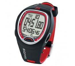 Sigma Polscomputer Stopwatch Sc6.12, Zwart/rood