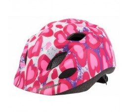 Polisport Helm Junior Glitter Hearts + Bidon S 52-56cm