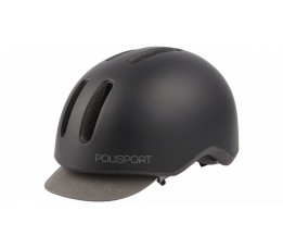 Polisport Helm Commuter M 54-58cm Mat Zwart/grijs