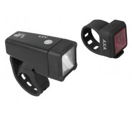 Axa Verlichtingset Niteline T1 Batterij
